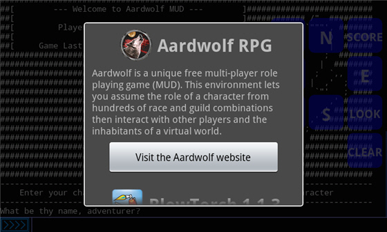 Aardwolf MUD - About Android Client