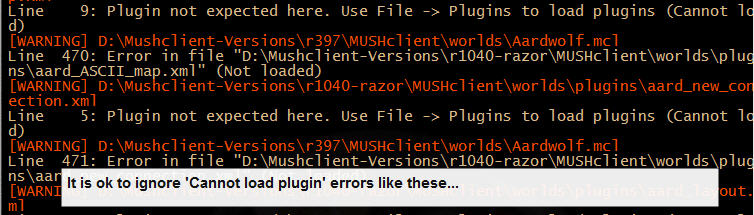 Mushclient Import Errors