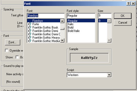 Changing font in Mushclient