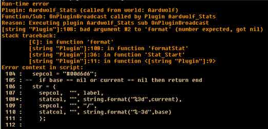 Runtime error in Aardwolf MUD client